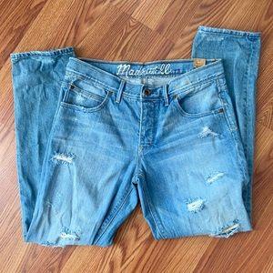New Madewell Distressed Boyfriend Jeans